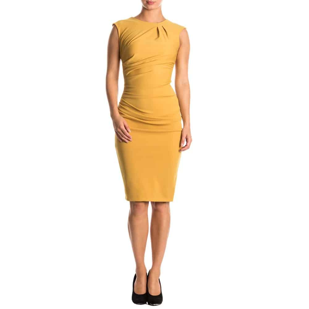 jurk-rinascimento-geel-en-rood-1855479